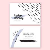 Sjabloon voor mode-visitekaartjes
