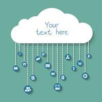 Sociaal en zakelijk in de cloud
