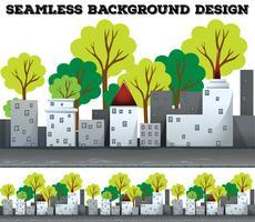 Naadloze achtergrond met grijze gebouwen vector