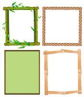 Vier verschillende ontwerpen van frames