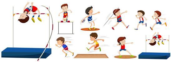 Verschillende soorten sporten in het veld