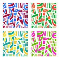 Abstracte achtergrond in vier kleuren vector