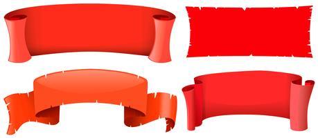 Bannermalplaatjes in vier ontwerpen