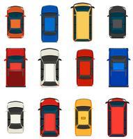 Een groep voertuigen vector