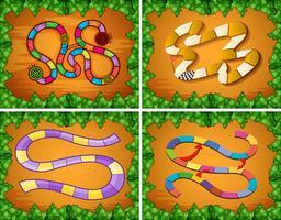 Vier ontwerpen van spelsjabloon vector