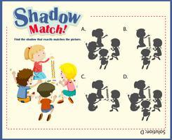 Spel sjabloon voor schaduw matching kinderen