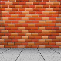 Achtergrondontwerp met bakstenen muur vector