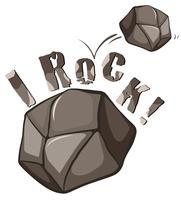 Rock Engelse uitdrukking op wit