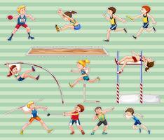 Sticker set voor atletiek sporten