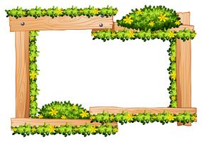 Houten frame met gele bloemen rond de rand