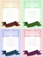 Papiersjabloon in vier kleuren