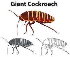 Doodle dier voor gigantische kakkerlak vector
