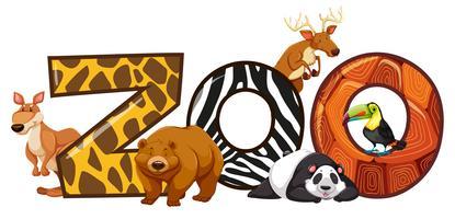 Lettertype ontwerp voor word zoo