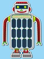 Times tabellen grafiek op robot speelgoed vector