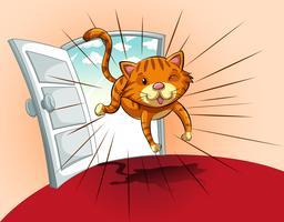 Cat loopt vector