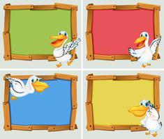 Frame ontwerp met pelikaan vogel