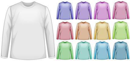 Shirts met lange mouwen vector