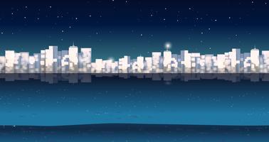 Stad buildins 's nachts vector
