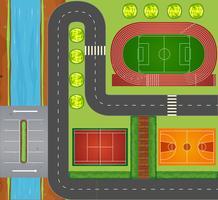 Wegen en sportfaciliteiten vector