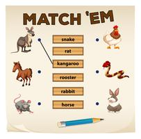 Matching game met veel dieren