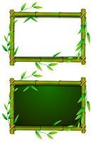 Twee planken met bamboeframe