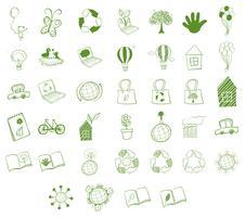 Verschillende milieuvriendelijke objecten