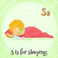 Slapen vector
