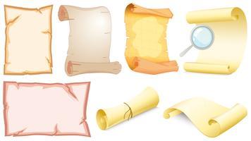 Set van lege scrolls vector