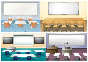 Vier scènes van de klas vector