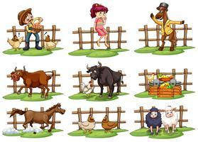 Set van hekken vector