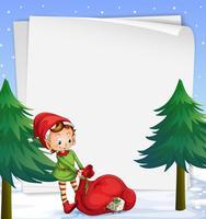 Een lege sjabloon voor Kerstmis