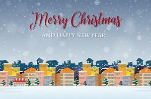 Vrolijk kerstfeest en een gelukkig nieuwjaar vector