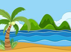 Een strandlandschap in de zomer