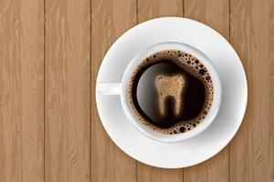 kop koffie vector
