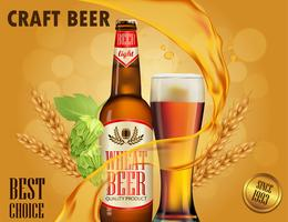 Bier advertentie ontwerp.