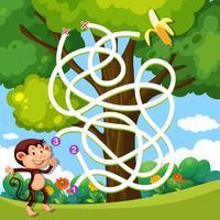 Een aap-doolhof-doolhofspel vector