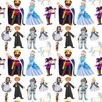 Naadloos ontwerp met sprookjesachtige karakters