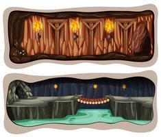 Een set voor ondergrondse mijnen