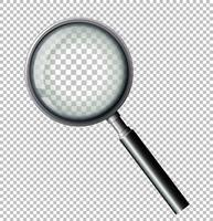 Vergrootglas op transparante achtergrond vector