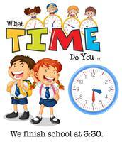 Studenten beëindigen school om 3:30