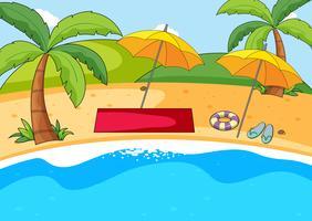 Een eenvoudige strandachtergrond