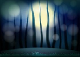 Een natuurlijke nachtachtergrond vector
