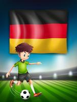 Een Duitse voetballer