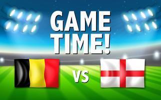 België VS Engeland sjabloon