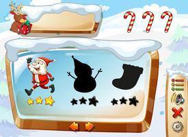 Een kerst-game sjabloon