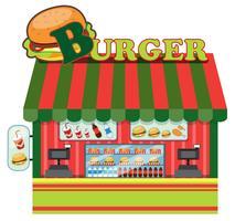 Buitenkant van een hamburgerwinkel