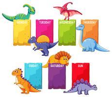 Dino op planningsmal