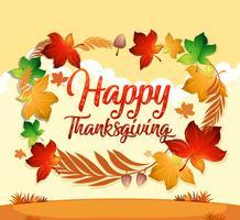 Een happy thanksgiving-kaartsjabloon