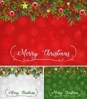 Achtergrondmalplaatje met Kerstmisthema vector