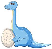 Een dinosaurus en een ei vector